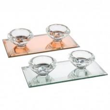 Silver Sparkle Lines Diamond Tealight 2